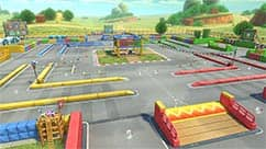 The SNES Battle Course 1 course takes place on a Mario Kart racetrack.